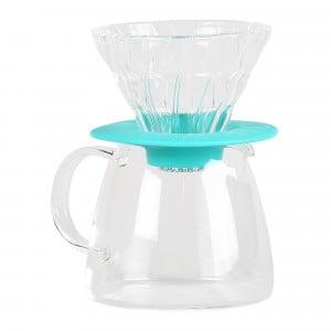 Hario Clair Drip Pot Set: Hario V60 Glass Dripper & Pot