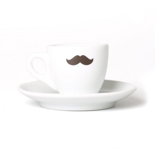 Espresso-Tasse mit Schnurrbart