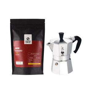 Bialetti Moka Pot + Coffee Set