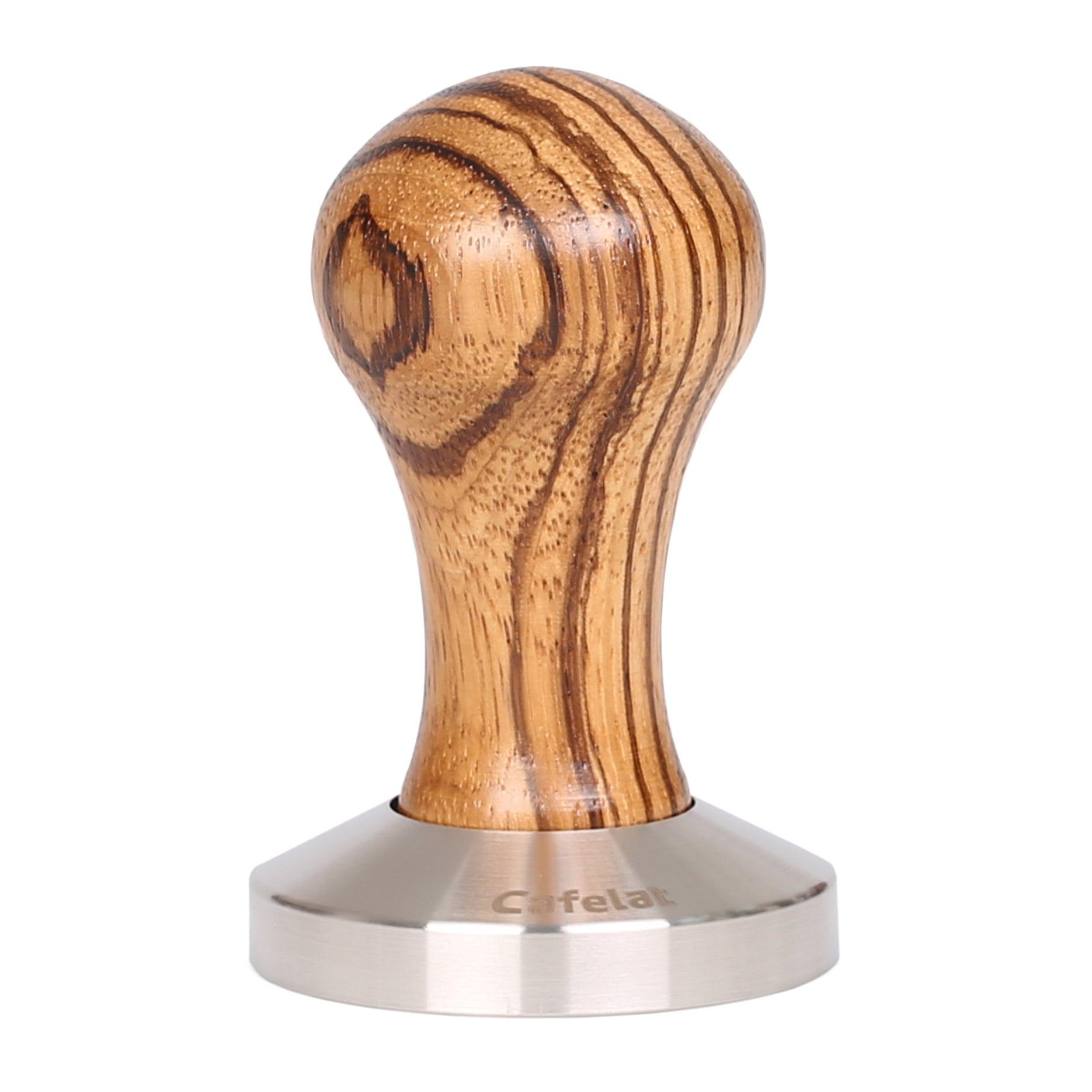 Espresso Coffee Tamper 58mm Flat Base Hande made Zebrano Wood