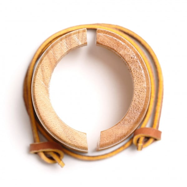 Chemex Holzmanschette mit Lederband
