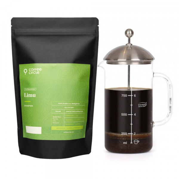 French Press & Kaffee im Set