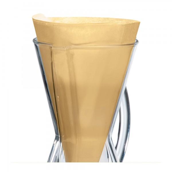 MCQ Chemex-Filter für 1 bis 3 Tassen-Karaffe | natur (12 Stück)