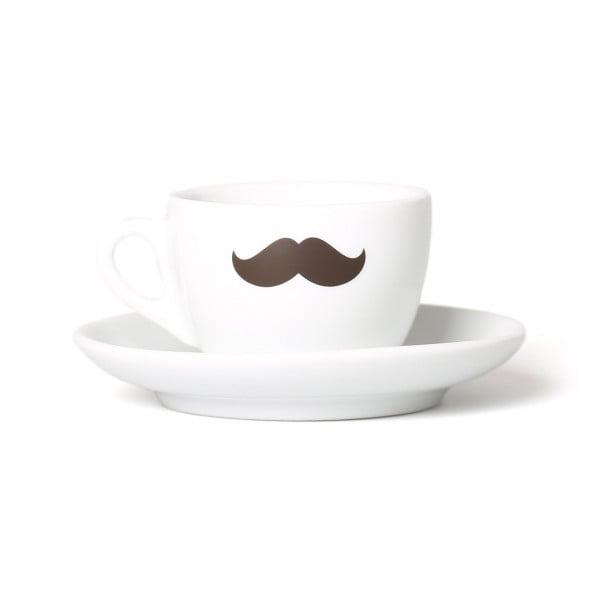 Cappuccino-Tasse mit Schnurrbart