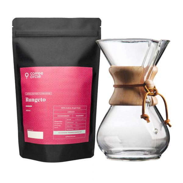 Chemex-Kaffeekaraffe & Kaffee nach Wahl im Set