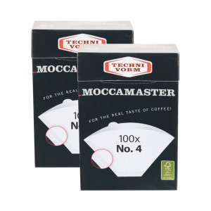 Moccamaster Papierfilter Nr. 4 weiß - 200 Stück