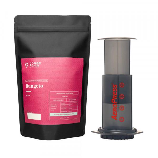 Aeropress & Kaffee im Set